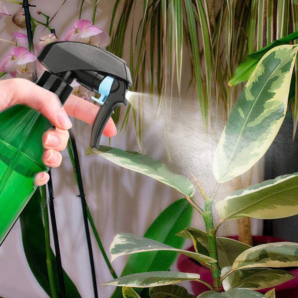 Green Aromatherapy Misting Plants with Water with Black Trigger Sprayer- 300ml//10oz CestMall Spray Bottles 2 Pack Plastic Spray Bottles for Cleaning Solutions Empty Refillable for Essential Oils