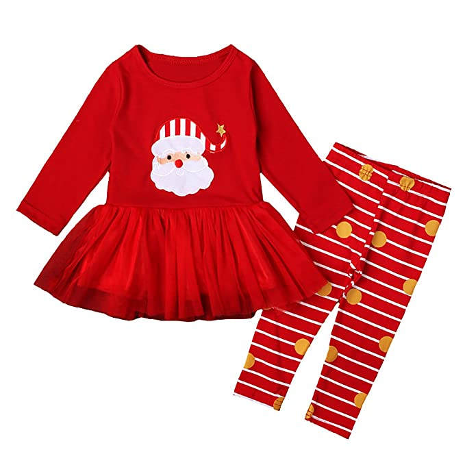 6b4cbbd5a Amazon.com  Little Girls 2-Piece Christmas Pajama Set Kids Cotton ...