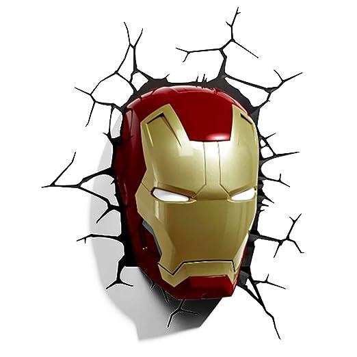 Vogueoy marvel avengers iron man mask helmet 3d deco wall light vogueoy marvel avengers iron man mask helmet 3d deco wall light nightlight aloadofball Gallery