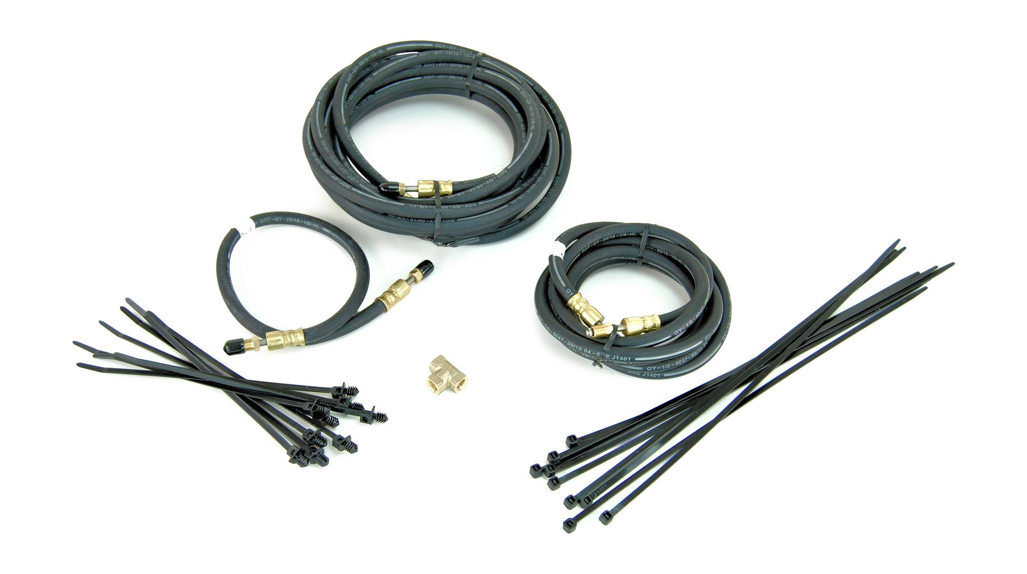 Sturdy Built Single Axle Trailer Brake Line Kit with Flexible Hydraulic Rubber Hoses by Sturdy Built