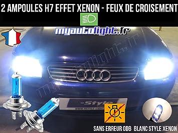 Pack Bombillas H7 blanco Xenon luz croisement-code para Audi A3 8L