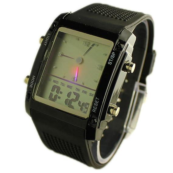 Reloj de Muñeca LED Digital Multi-Función para Hombre: Amazon.es: Relojes