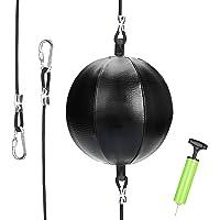 Maxjaa Double End Ball, dubbele einde tas trainingstas ponsen tas met Pomp en Haak, voor boksen MMA Speed Training pak…