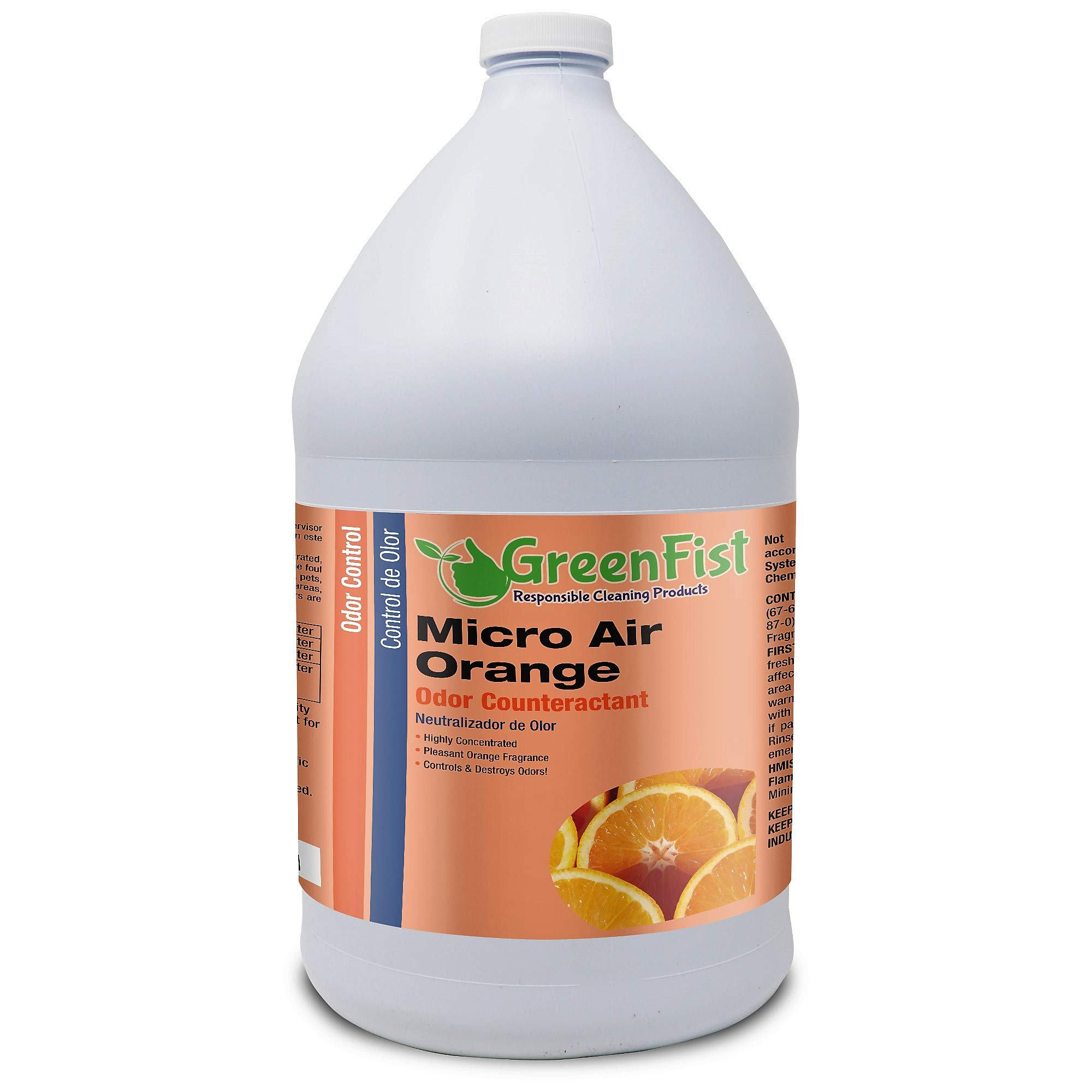 Micro Air Odor Counteractant Pleasant Orange Fragrance [ Concentrated ] (1 Gallon) by GreenFist