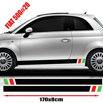 Fiat 500 Racing Side Stickers Graphics Decals Car Stickers Amazon