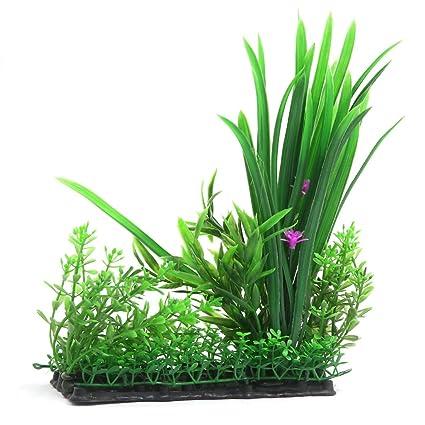 uxcell - Planta plástica Decorativa para Acuario de Peces Betta, Verde