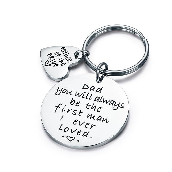 Amazon.com: CJ & M boda regalo llavero – Padre de la ...