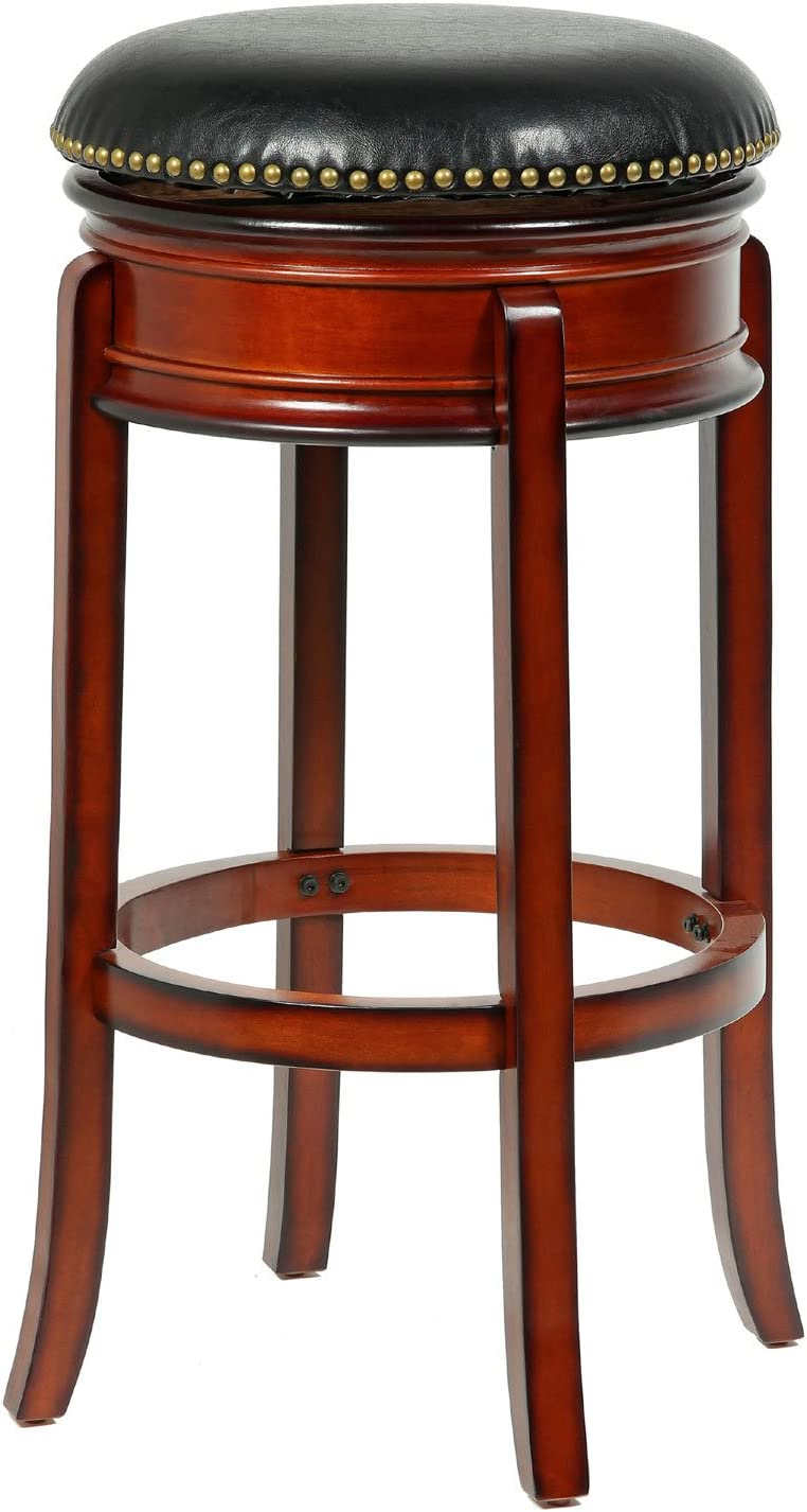 MINTRA CORPORATION Bristol Swivel 29-Inch Counter Stool in Brandy Finish