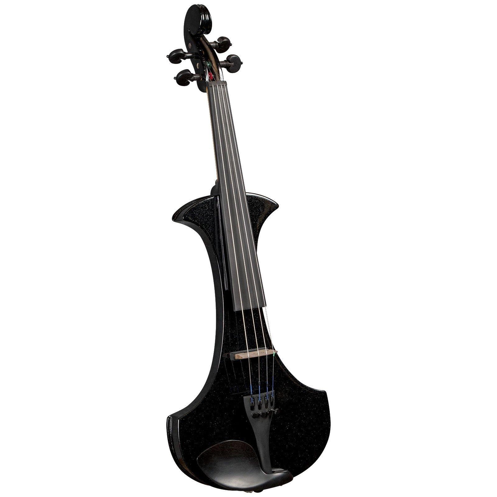 Cremona SV-180BKE Premier Student Electric Violin - Sparkling Black - 4/4 Size