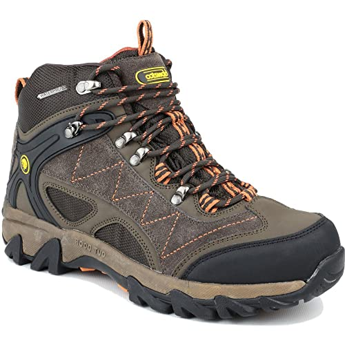 Cotswold Mens Malvern Mid Lace Up Leather Walking Hiking Boot Brown oHPRg