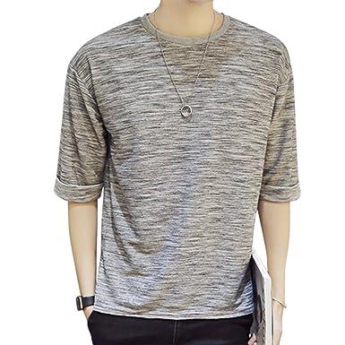 8c693d2f1018b7 Amazon.co.jp: Goodid Tシャツ メンズ 長袖 五分袖 おしゃれ シンプル ゆったり カジュアル: 服&ファッション小物