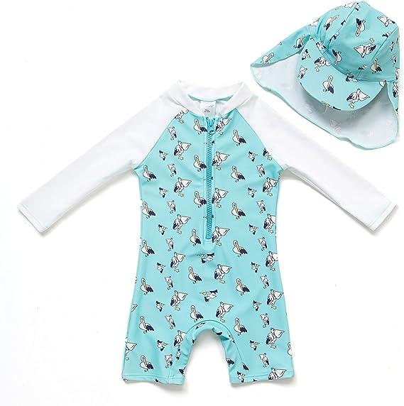 Amazon.com: BONVERANO Baby Infant Boy's UPF 50+ Sun Protection L/S ...
