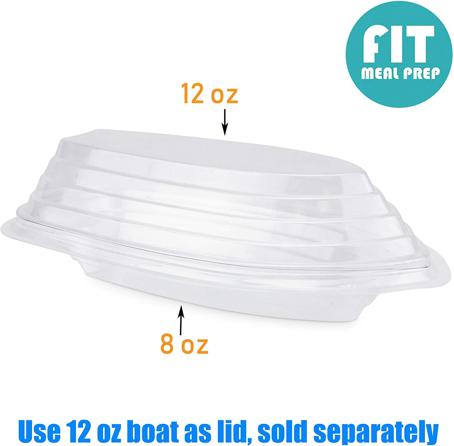 25-500 Banana Split Boats Clear 8 oz Free Shipping USA Only