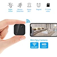 OUCAM Hidden Camera 1080P Mini Spy Camera WiFi Camera with Remote Viewing 380Amh Battery Wireless IP Camera for Baby/Pet/Nanny Cam with Real-Time Video Night Vision, Phone App with Andriod and iOS