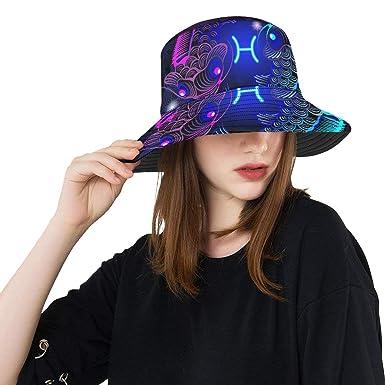 Sombrero Colorido del Cubo Carpas Azules y púrpuras Forma de Yin ...