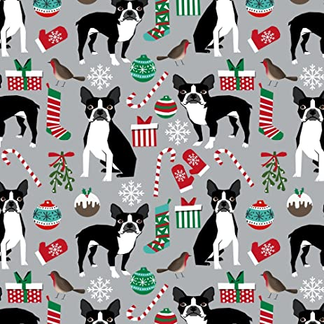 dog christmas fabric boston terrier christmas fabric cute xmas holiday dogs design cute christmas fabrics for