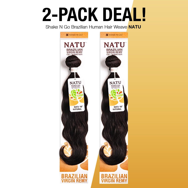 Amazon 2 Pack Deals Shake N Go Brazilian Virgin Remy Human