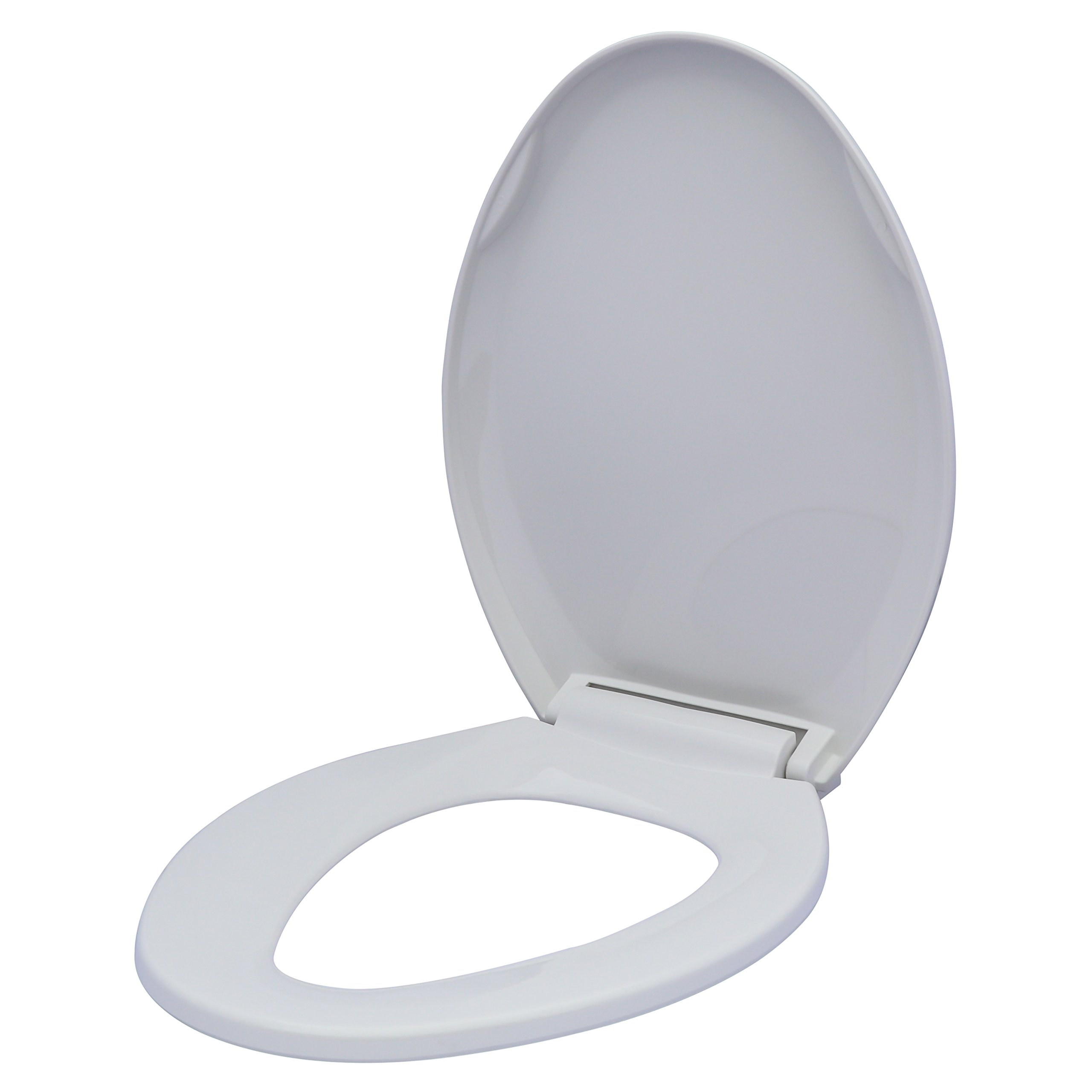 Karlson KS1241-1906-WH Slow Close Plastic Elongated Toilet Seat with Easy Clean Hinges White