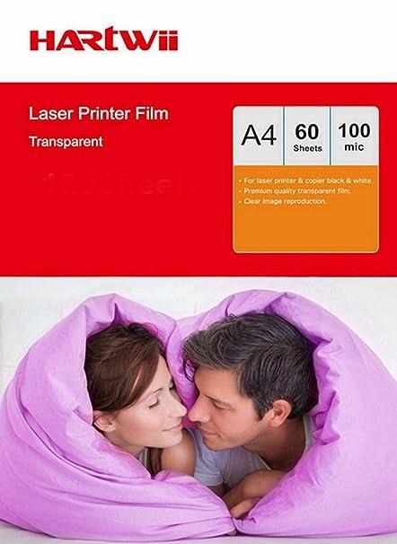 A4 Overhead Proyector OHP película - 60SHEETS A4 (297 x 210 mm ...
