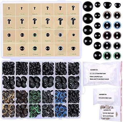 Amazon.com: 6mm Safety Eyes Plastic Eyes Plastic Craft Safety Eyes ... | 422x425