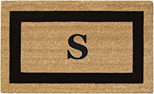 "Nedia Home Monogrammed S Superscraper Single Picture Frame, 20"" x 36"", Black"