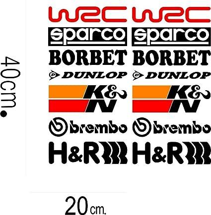 Indiashopers 14pcs racing sponsors logo for any car and mini cooper vinyl decals7x17