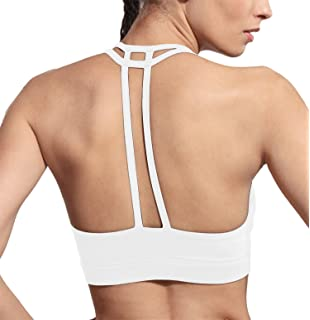 60d026e07a DeepTwist Womens Sports Bra Padded Criss Cross Back Gym Yoga Bras with  Removable Cups
