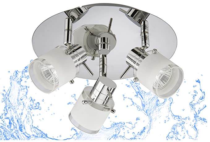 Trango 3 de llama Luz de baño LED IP44, lámpara de baño, luz ...
