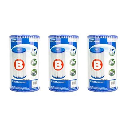 Intex B00 Lcir3 Vs Pool Easy Set Type B Replacement Filter Pump Cartridge (3 Pack), 1, White by Intex