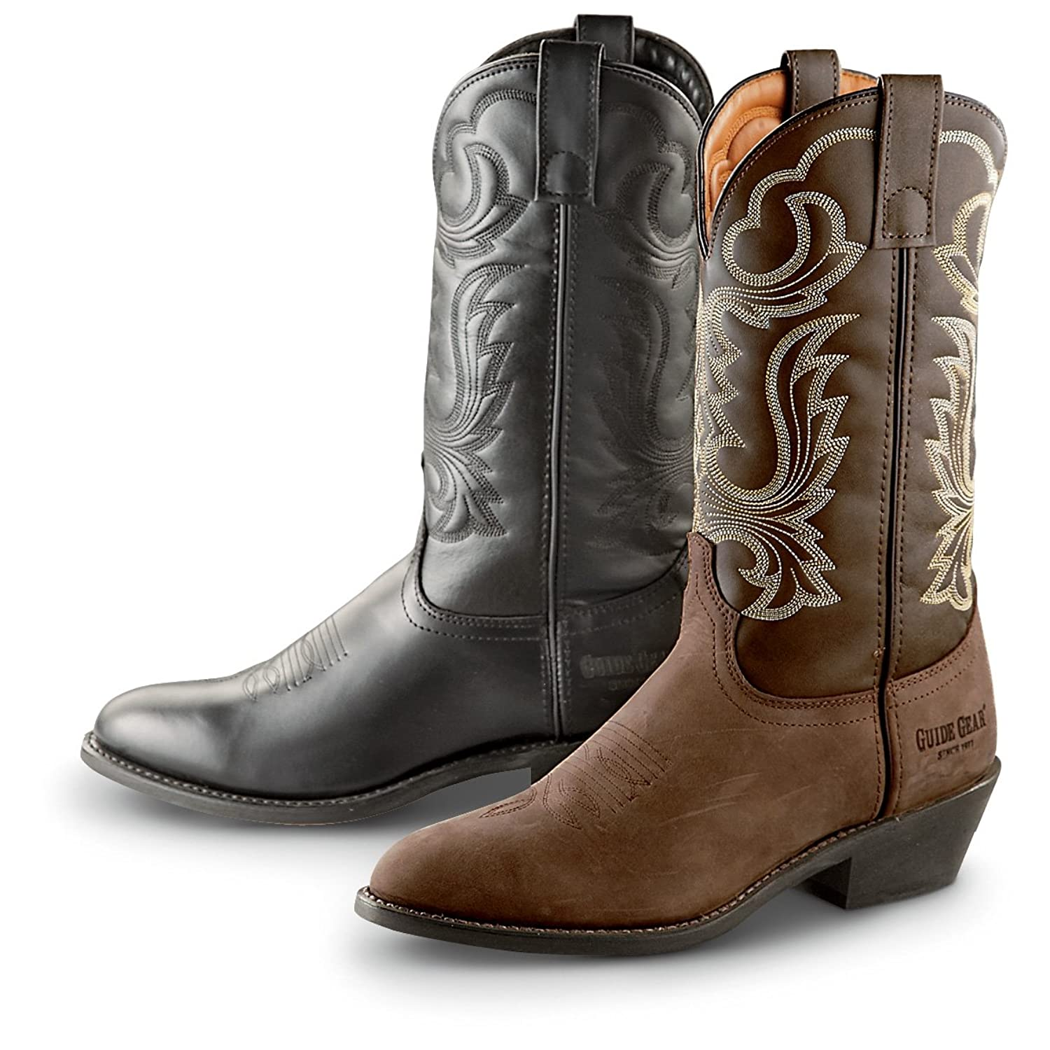 "Amazon.com | Guide Gear Men's 12"" Cowboy Boots 