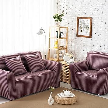 Algodón rayas sofa slipcover,Sofá tejido cubierta completa ...