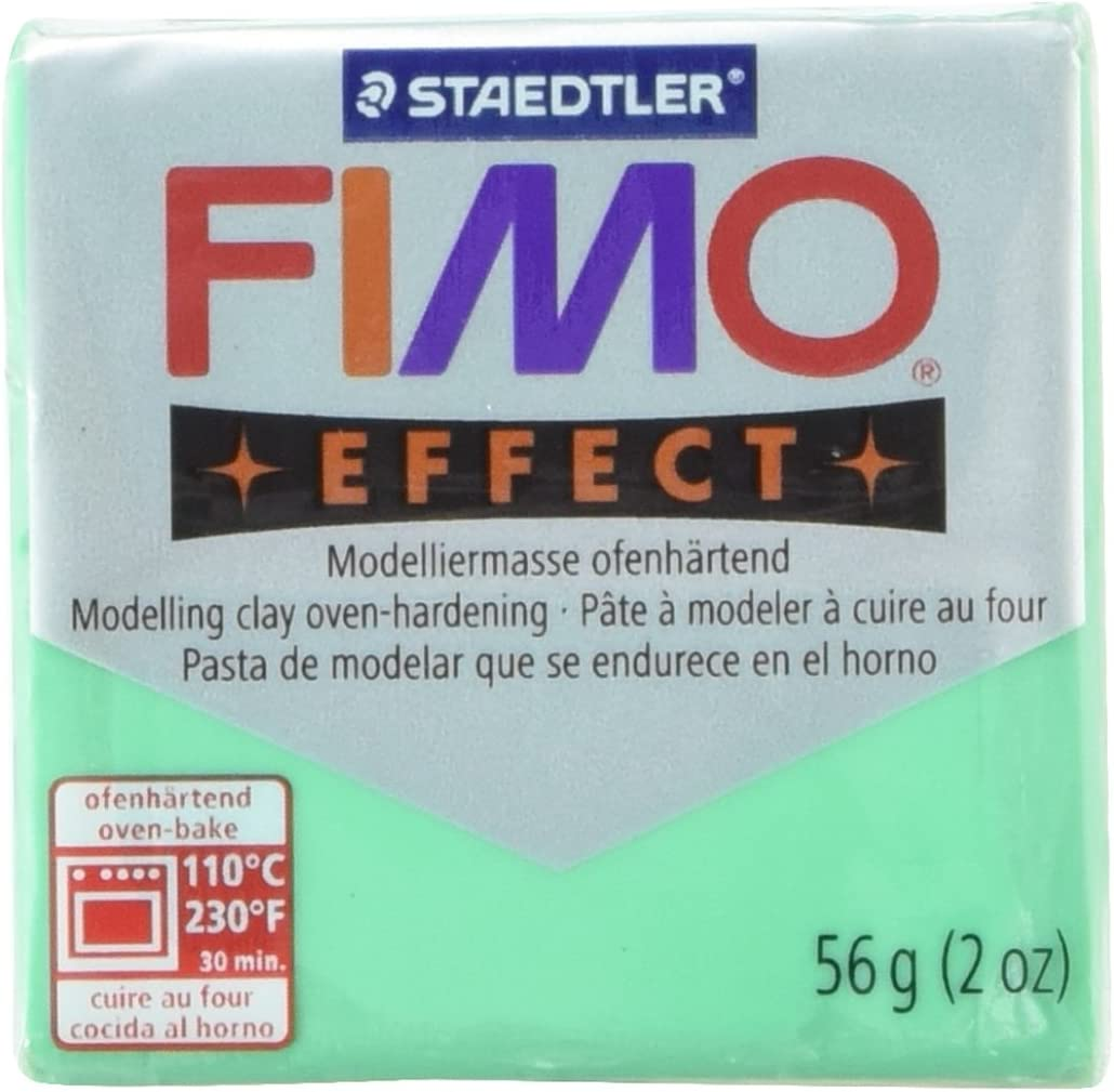 Pack Of 5 374 FIMO Effect Polymer Modelling Moulding Clay Block Oven Bake Colour 56g STAEDTLER FIMO Effect Transparent Blue