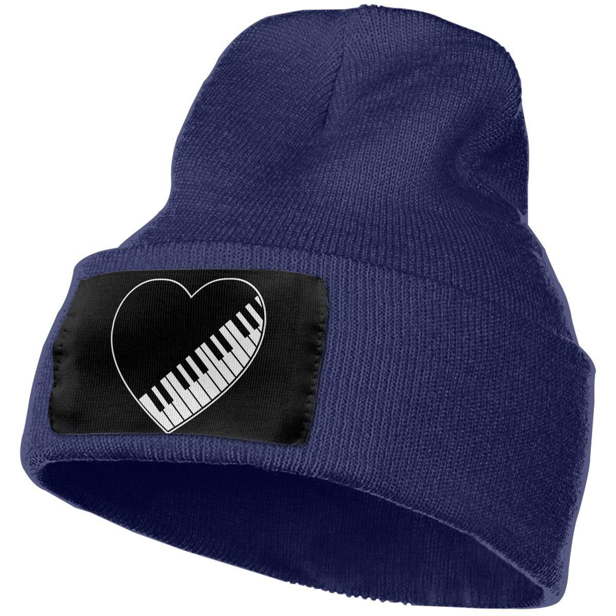 Piano Keys Heart Men /& Women Knitting Hats Stretchy /& Soft Skull Cap Beanie