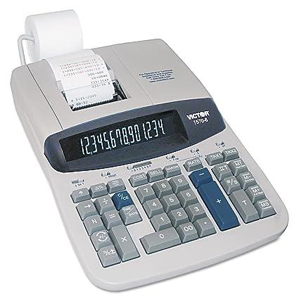 Victor Technology 1570-6 Escritorio Calculadora Impresora ...
