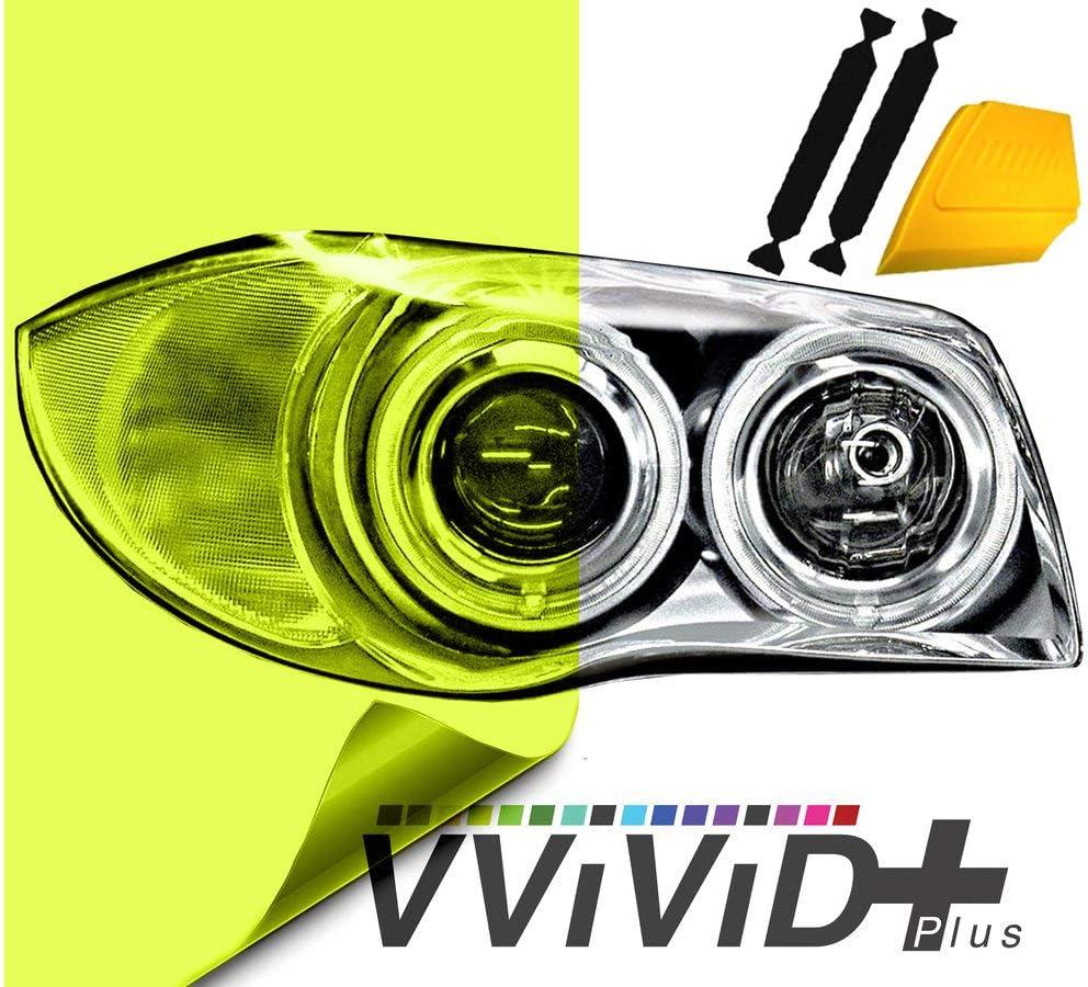 "Dark Smoke Protect PVC Film Tint Headlight Taillight Fog Wrap Roll 12/"" X 24/"""
