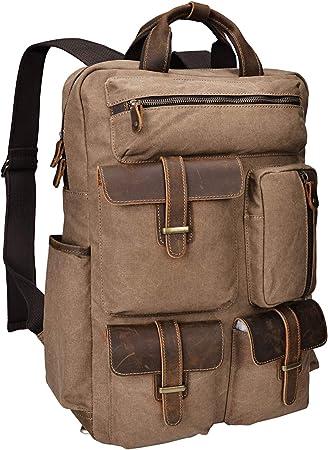 big bag women bag messenger bag brown leather UNISEX bag water resistant Brown canvas Backpack backpack men backpack Notebook bag