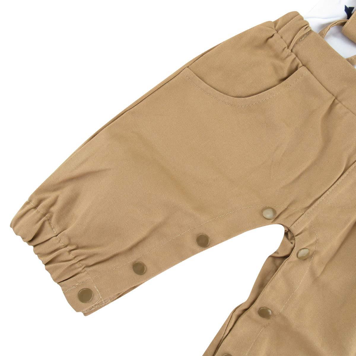 A/&J Design Bimbo Neonato Gentiluomo Tuxedo Outfit con Il Bowknot per Nozze Battesimo Compleanno