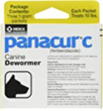 Panacur C Canine Dewormer Dogs 1 (3 Packets) Gram Each Packet Treats 10 lbs (4 Pack)