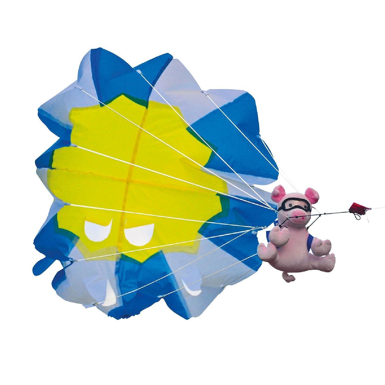 Einleiner Drache Fallschirm Springer Schweinchen