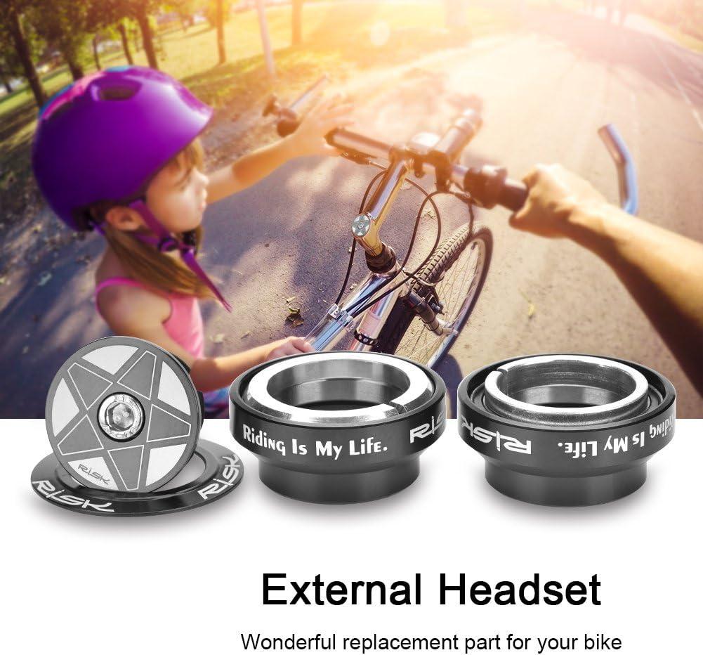 VGEBY Fahrrad-Headset Aluminiumlegierung 34mm Fahrradgabel-Headset Fahrrad-Headset Gerades Gabelschaft-Gabellager