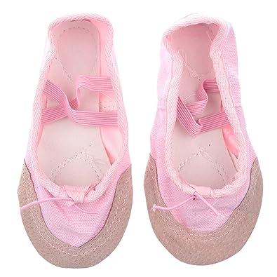 7397f645dab2a SODIAL(R) Taille 22 Chaussures de Toile Chaussures de Ballet de Danse  Chaussons pour