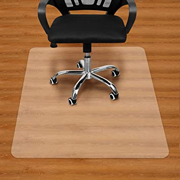 Amazon Com Large Office Chair Mat For Hardwood Floors 59 47 Anti Slip Desk Chair Mat Heavy Duty Floor Protector For Home Or Office Easy Clean And Flat Without Curling