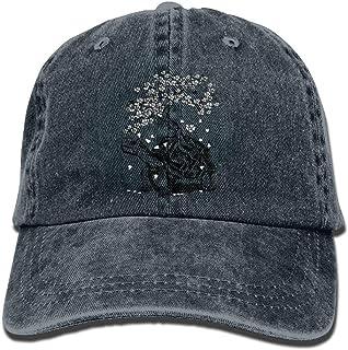 Yuerb Cappellini Baseball Turtle Bonsai Tree Denim Hat Adjustable Female Plain Baseball cap