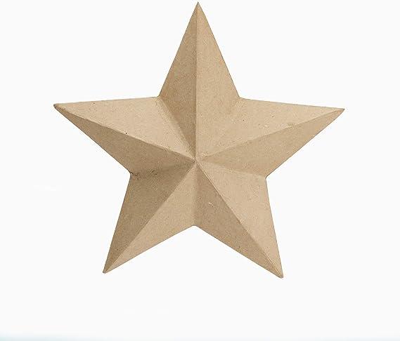 "Darice Paper-Mache Star Ornament-8/"""