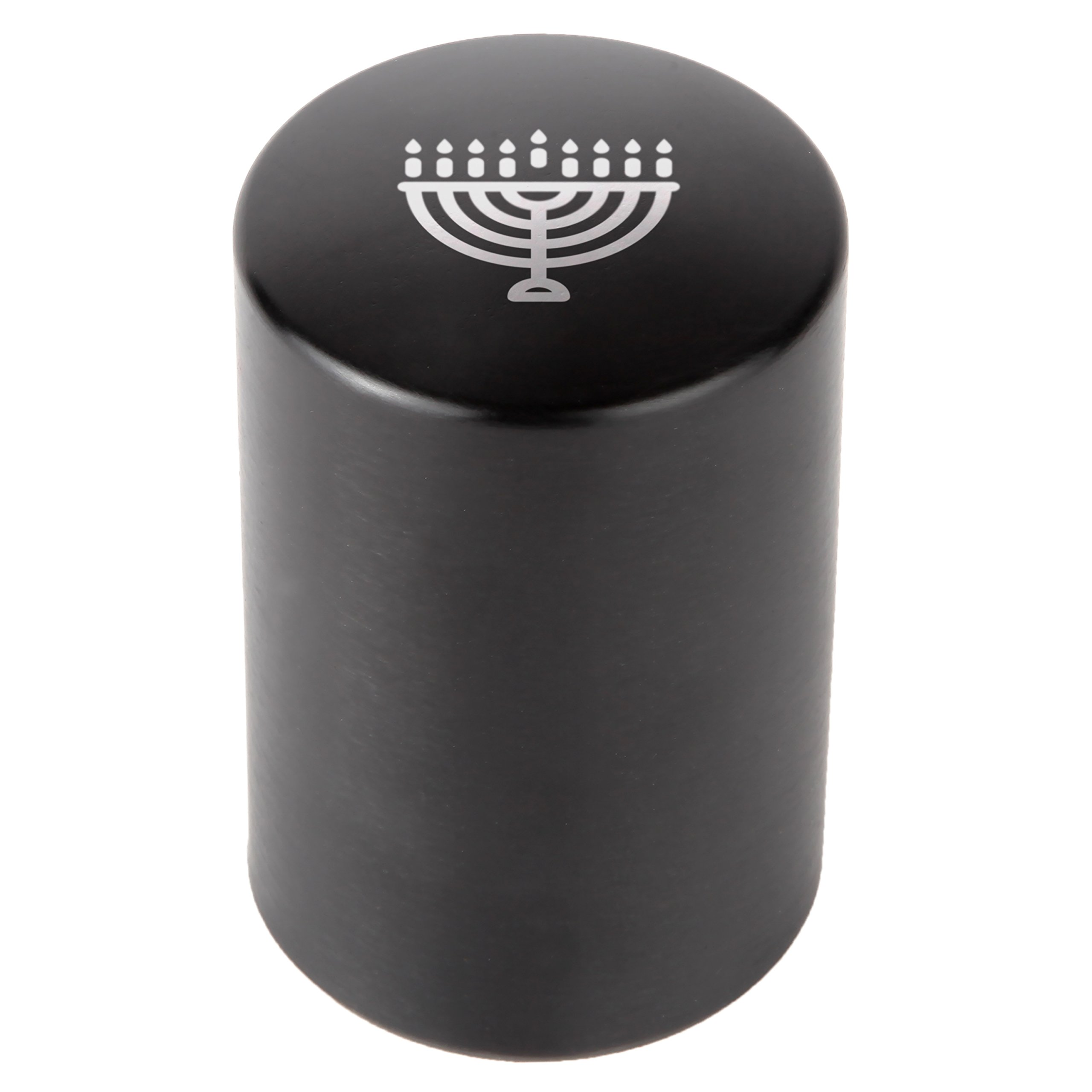 Hanukkah Menorah Automatic Bottle Opener - Laser Etched Design - Bottle Opener With Catcher - Fast Bottle Opener For Parties, Events Or Everyday Use