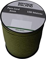 100m Reel Paracord Army Camping for Tent Basha Bivi Shelter Buidling Hammock Gardening Bushcraft in Green, Black, Coyote and Red Colours