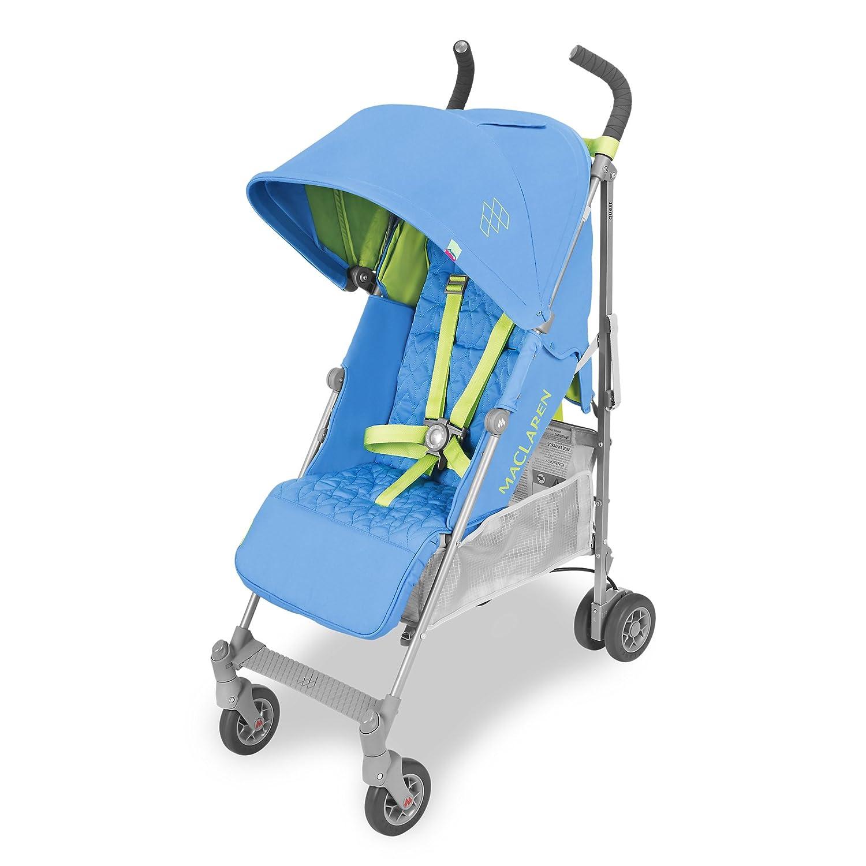 Maclaren Quest Silla de paseo - ligero, para recién nacidos hasta los 25kg, Asiento multiposición, suspensión en las 4 ruedas, Capota extensible con ...