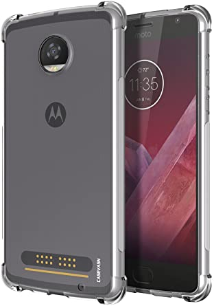 competitive price 6e816 8d7cd Moto Z2 Play Case, CASEVASN [Shockproof] Anti-Scratches Flexible TPU Gel  Slim Fit Soft Skin Silicone Protective Case Cover for Motorola Moto Z2 Play  ...