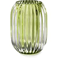 """Serene Spaces Living Green Optical Glass Votive Holder, Perfect for Weddings and Home Décor, Measures 5"""" Tall and 3.5…"""