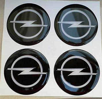 4 adhesivos resinados con efecto 3D, 3M de 60 mm, negros, para llantas